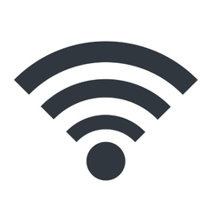 Wifi or wireless isolated icon design vector image