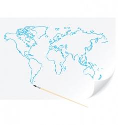 world map sketch vector image
