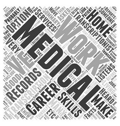 A Career In Medical Transcription Is It For You vector image