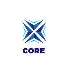 Abstract blue core arrow business technology logo vector