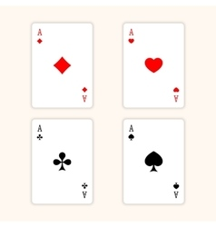 Aces Playing Cards Set of ace playing vector image