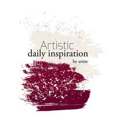 Artistic brush stroke card ad template vector