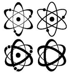 atom symbol set vector image