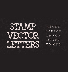 Awesome stamp alphabet melt segment stunning font vector