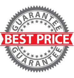 best price guarantee sign best price guarantee vector image