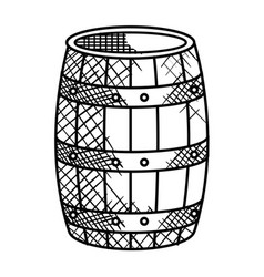 Best wine barrel icon vector