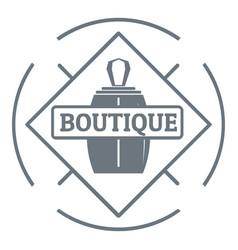 Boutique logo vintage style vector