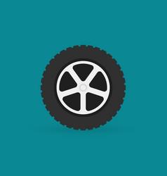 car wheel flat minimal icon vector image