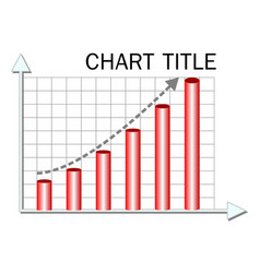 chart template with red columns and vector image