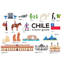 chile travel guide template set chilean vector image