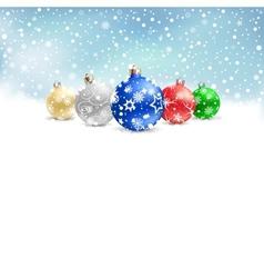 christmas bauble snow textarea vector image