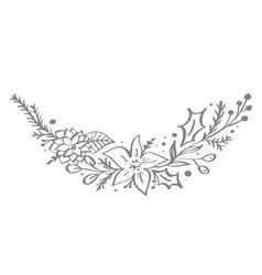 christmas decorative corner elements design with vector image