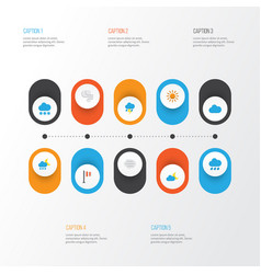 Climate flat icons set collection of banner vector