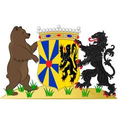 Coat of arms of west flanders in belgium vector