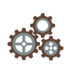 Cogwheel machinery and development gear icon vector image