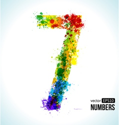 Color paint splashes Gradient Number 7 vector