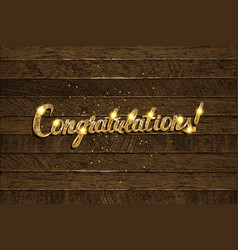 congratulations - hand drawn lettering vector image