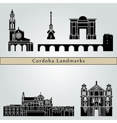 Cordoba landmarks and monuments vector image