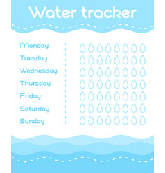 daily water tracker vector image