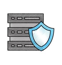 Data base server center shield protection security vector
