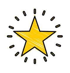 Decorative star isolated icon vector