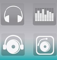 DJ design vector image
