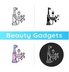 Electric toothbrush icon vector
