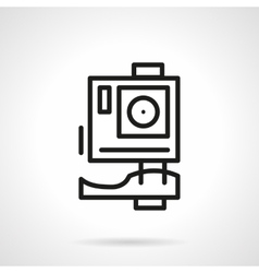 Extreme action camera simple line icon vector image