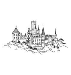 Famous german castle landscape travel germany vector