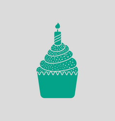 First birthday cake icon vector
