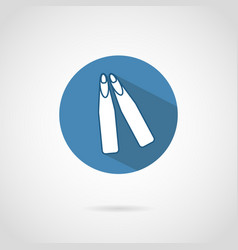 freediving flippers icon with shadow vector image