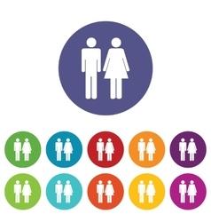 Gender icon set vector image