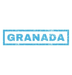 Granada Rubber Stamp vector image