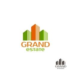 Grand estate logo real estate logo house logo vector
