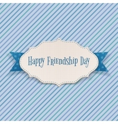 Happy Friendship Day greeting Banner vector