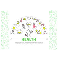 healthy lifestyle template vector image