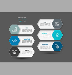 Hexagonal shape template infographic design vector
