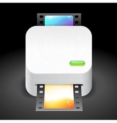 Icon for film scanner vector
