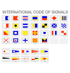Icon set with international code signals vector