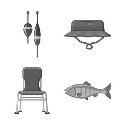 Isolated object of fish and fishing icon vector