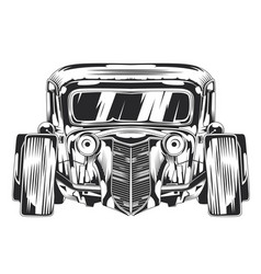 Isolated of custom hot rod vector