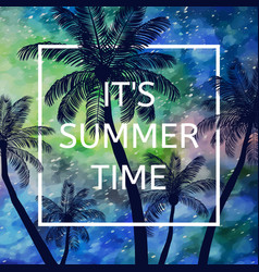 its summer time background vector image