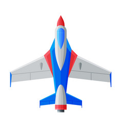jet aircraft airplane view from above air vector image