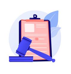 Legal statement concept metaphor vector