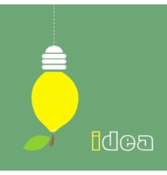 Lemon lamp vector image