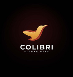 logo colibri gradient colorful style vector image