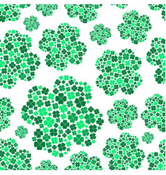 Lot of various green cloverleaf for happy seamless vector