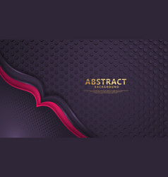 Luxury overlap layers background with lines vector