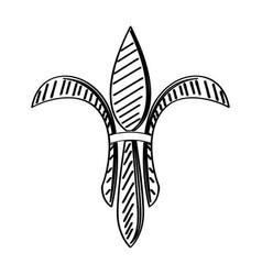 mardi gras symbol fleur de lys outline vector image