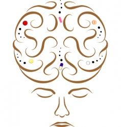 medicine and the brain vector image